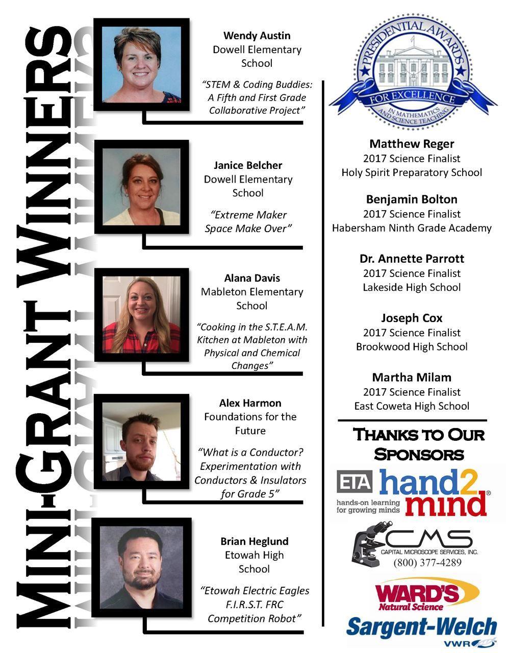 Georgia Science Teachers Association - Award Winners